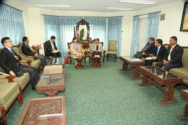 सभामुख घर्ती र चीनका राजदुत बीच भेटवार्ता