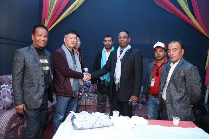 श्रीलंकाका सेक्रेटरी जनरल परेरा र हिमालयन एयरलायन्सका प्रेसिडेन्ट क्याप्टेन जाओबीच वार्ता