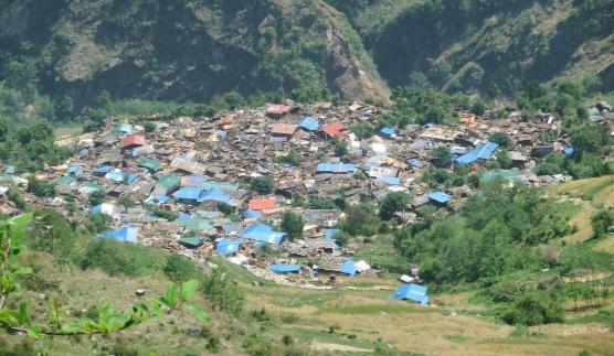 गोरखाको लाप्राकमा एनआरएनले सुरु गर्यो पुनर्निर्माण अभियान