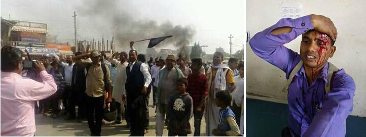 माधव नेपाल पुगेलगत्तै गौरमा प्रहरी र मोर्चाका कार्यकर्ताबीच झडप
