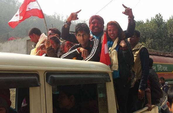 गणतन्त्र दिवसमा विद्यार्थीको प्रभातफेरी