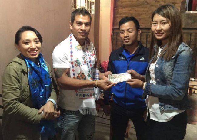 विश्व एमच्योर एण्ड फिट्नेसमा प्रतियोगितामा सहभागी हुँदै राजु महर्जन