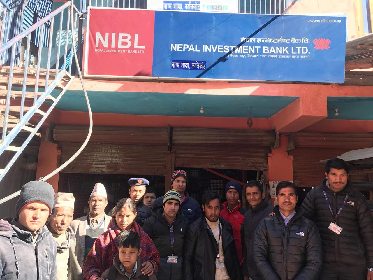 नेपाल इन्भेष्टमेण्ट बैंकको शाखा कालिकोट र दैलेखमा