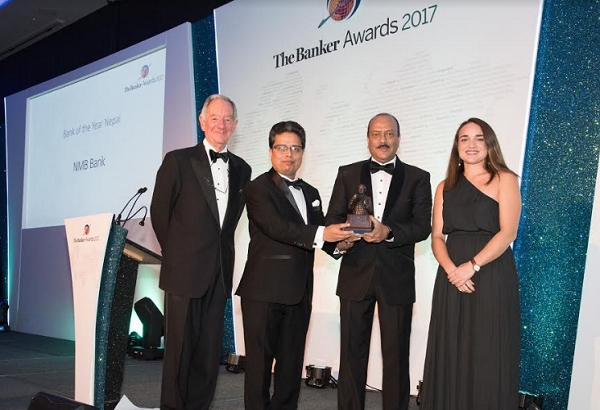 एनएमबि बैंक — सन् २०१७ को उत्कृष्ट बैंकको रुपमा सम्मानित