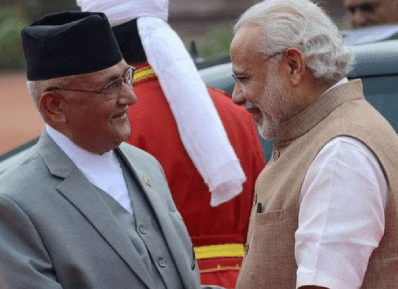 Indian PM Modi congratulates Oli, invites for India visit