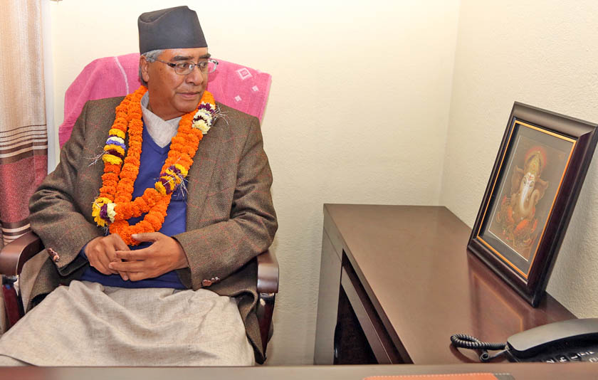 NC President Deuba extends Holi greetings
