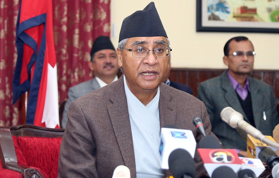 NC president Deuba dismayed by intra- party groupism, stresses on unity
