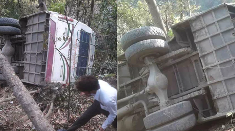 ट्रक र बस ठोक्किदा ९ जनाको मृत्यु