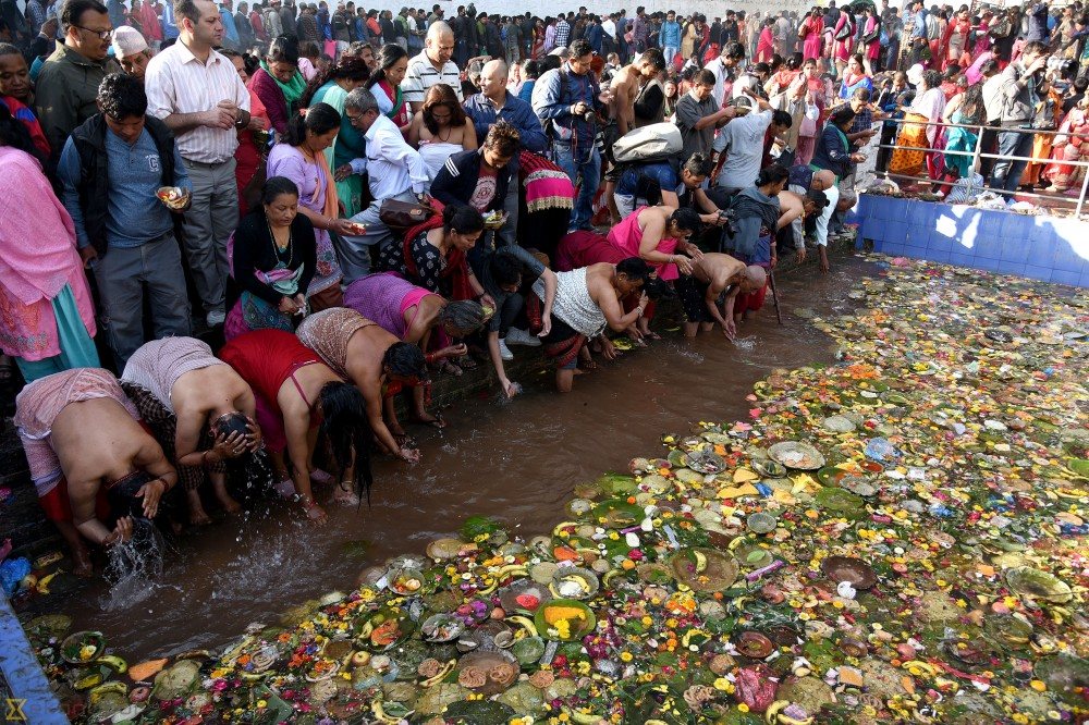 Devotees throng Gokarneshwor Temple on Kushe Aunsi