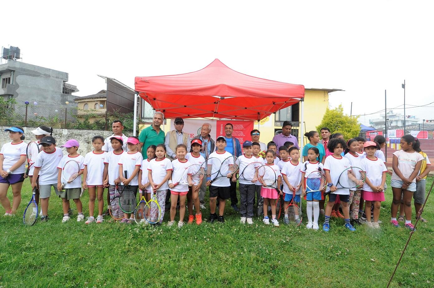 फस्ट आइएमई जेटीआई ग्राण्ड जुनियर ओपन लन टेनिस प्रतियोगिता सुरु