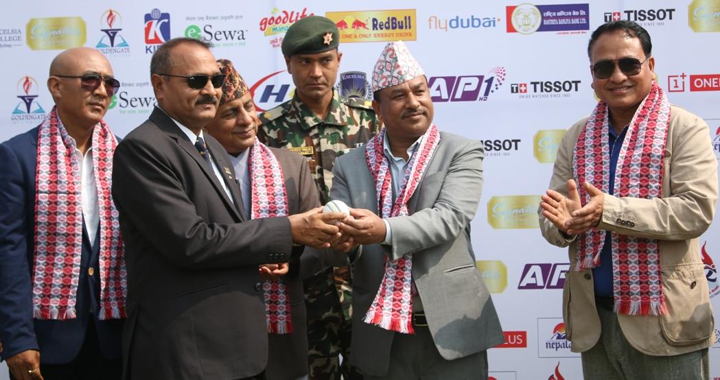 प्रधानमन्त्री कप क्रिकेटमा एपीएफ र प्रदेश ७ को विजयी सुरुवात