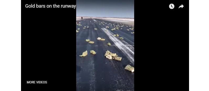 एयरपोर्टमा ९ हजार किलो सुन खस्यो(भिडियोसहित)
