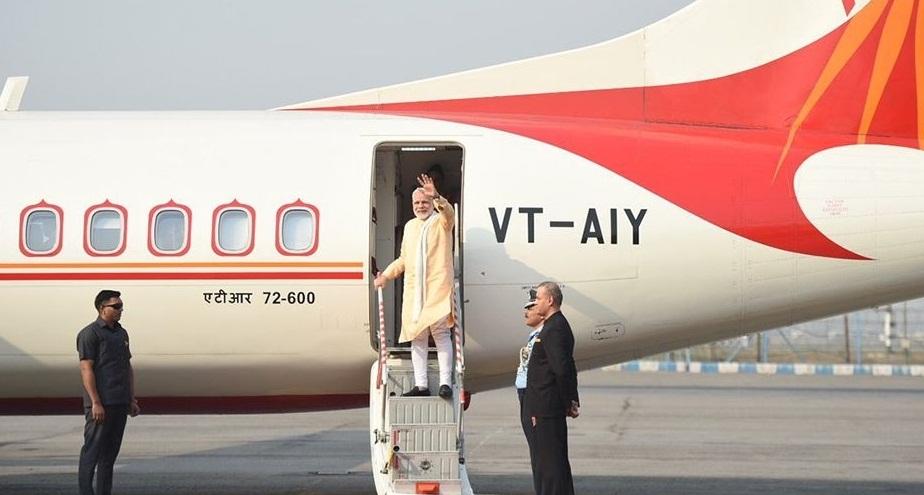 भारतीय प्रधानमन्त्री मोदीलाई ओलीले गरे जानकी मन्दीरमा स्वागत