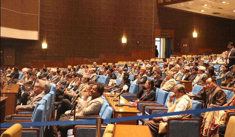 नेपाली काङ्ग्रेसद्वारा राष्ट्रियसभाको बैठक अवरुद्ध