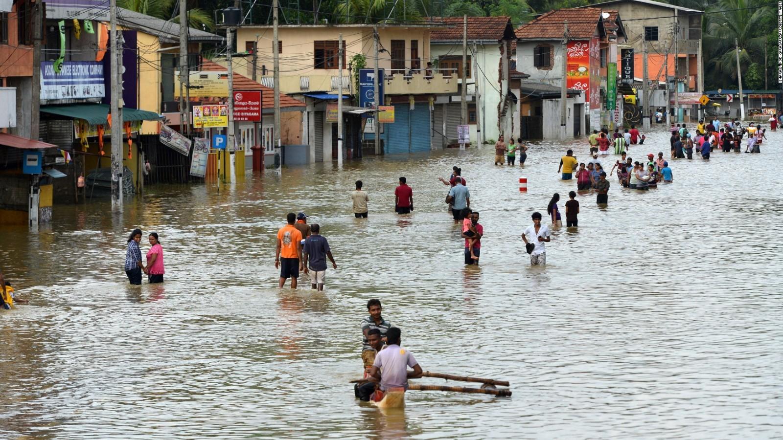 बाढीबाट दक्षिणी श्रीलंकामा आठ हजार स्थानीय प्रभावित