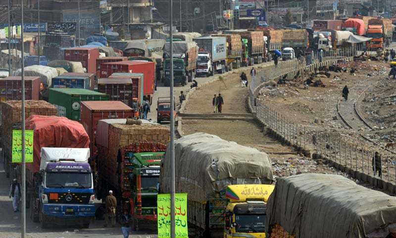 Eleven truckload of tea stopped at Indian border point