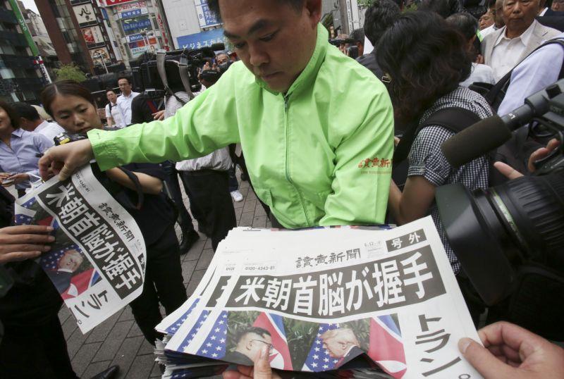 सिङ्गापुर वार्ताबारे दक्षिण कोरियाली अखबारमा यस्ता शीर्षक