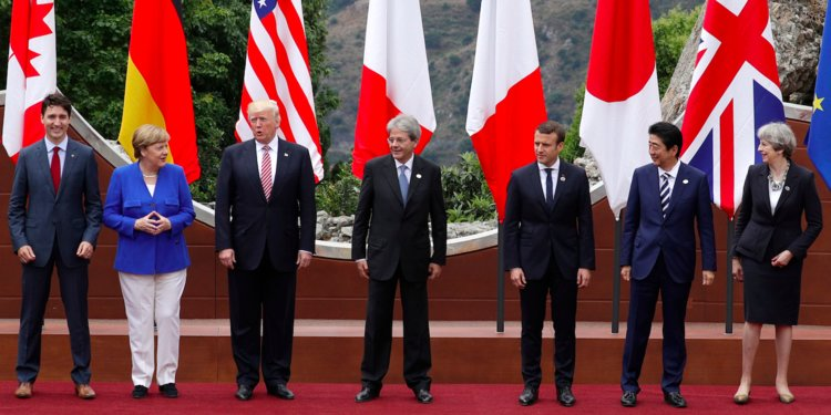 अमेरिकाविरुद्ध  'जि ७' का अर्थमन्त्रीहरु खनिए, राष्ट्रपति ट्रम्प भन्छन् शोषण भयो