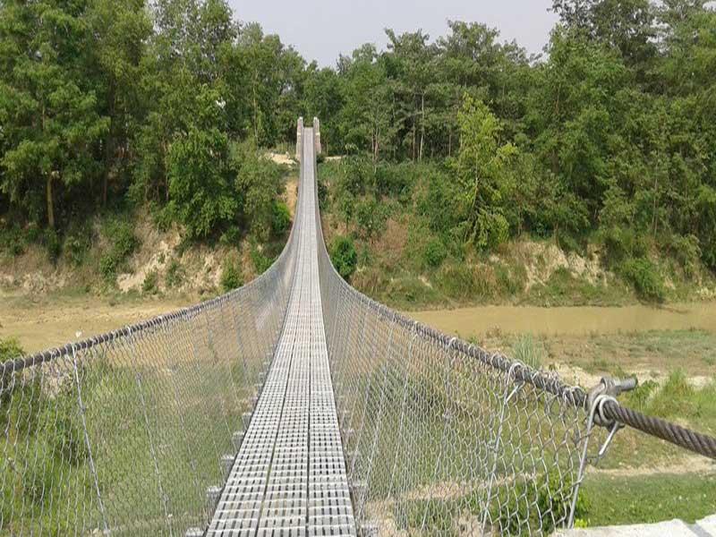 विकट सिम्कोशमा बन्यो झोलुंगे पुल