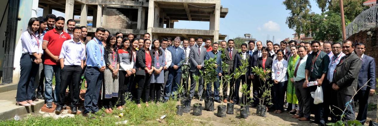 एनआईसी एशिया बैंकद्वारा वृक्षारोपण