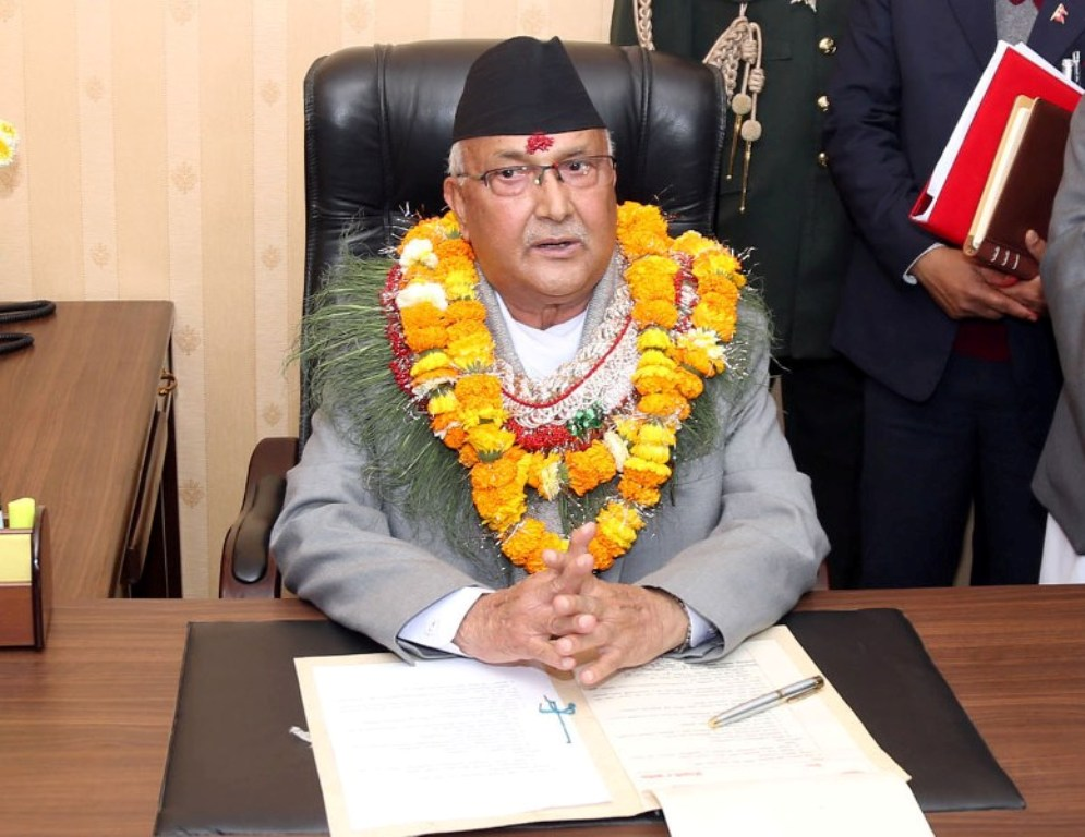 PM Oli's message of best wishes on Bijaya Dashani