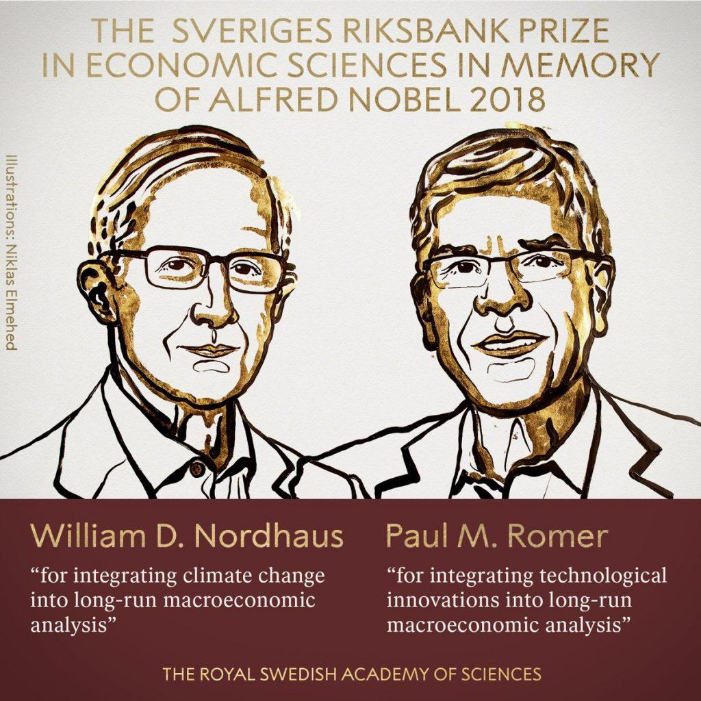 नोर्धाउस, रोमरलाई अर्थशास्त्रतर्फको नोबेल पुरस्कार