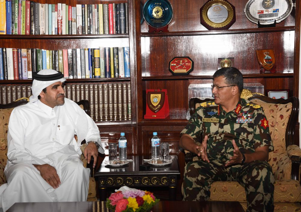प्रधानसेनापति र राजदुत मोेहम्मद शिष्टाचार भेटवार्ता