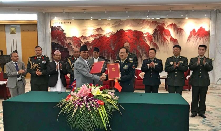 चीनले दियो नेपाली सेनालाई दुई अर्ब ५३ करोड सहयोग