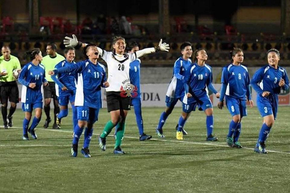 एएफसी यू–१९ महिला च्याम्पियनसिप छनोट : नेपाल अाज भारतसँग खेल्दै