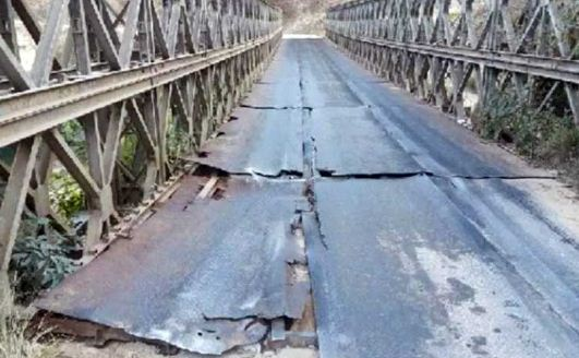 वर्षअघि निर्माण गरिएको बेली ब्रिज जीर्ण