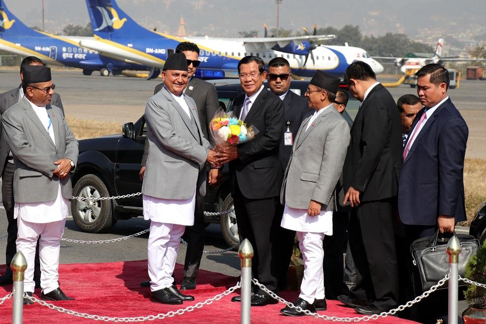 कम्बोडियाका प्रधानमन्त्री नेपालमा