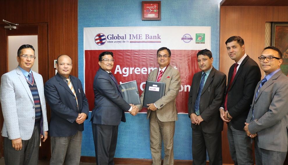 ग्लोबल आईएमई बैंक र एशियन लाइफ इन्स्योरेन्सबीच सम्झौता