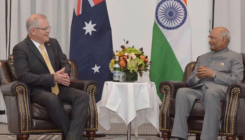 भारतीय राष्ट्रपति र अस्ट्रेलियाली प्रधानमन्त्रीबीच भेटवार्ता