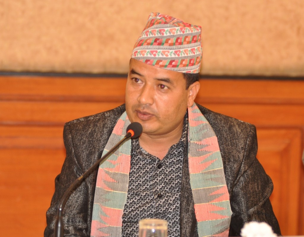 MP Basnet donates to old age home