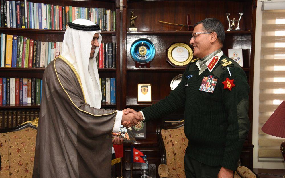 प्रधानसेनापति र संयुक्त अरब ईमिरेट्सका राजदुत बीच शिष्टाचार भेटवार्ता