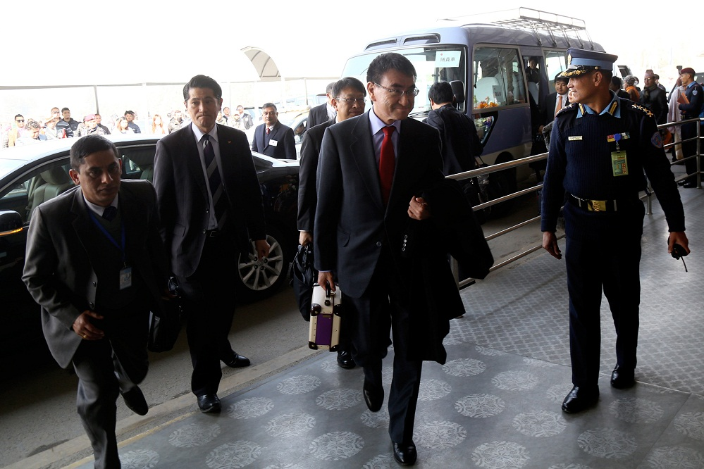 जापानी विदेशमन्त्री प्रस्थान
