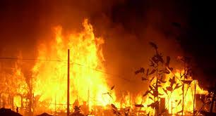 घर गोठमा आगलागी हुँदा पाँच लाखको क्षति