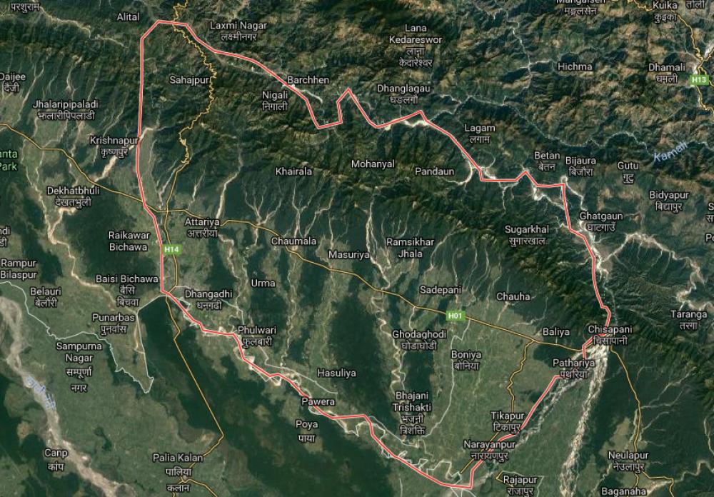 मासिँदै कैलालीको वन क्षेत्र