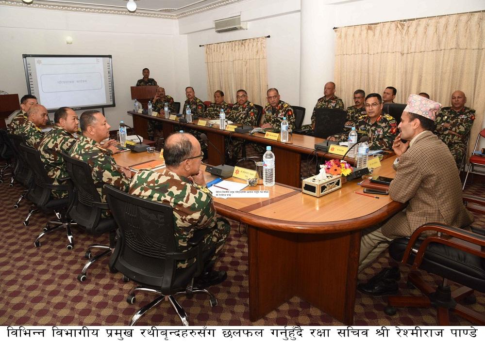 रक्षा सचिवद्वारा नेपाली सेना, जङ्गी अड्डाको निरीक्षण