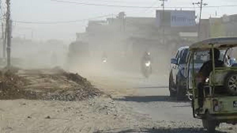 सडक धुलाम्य हुँदा जनतालाई सास्ती