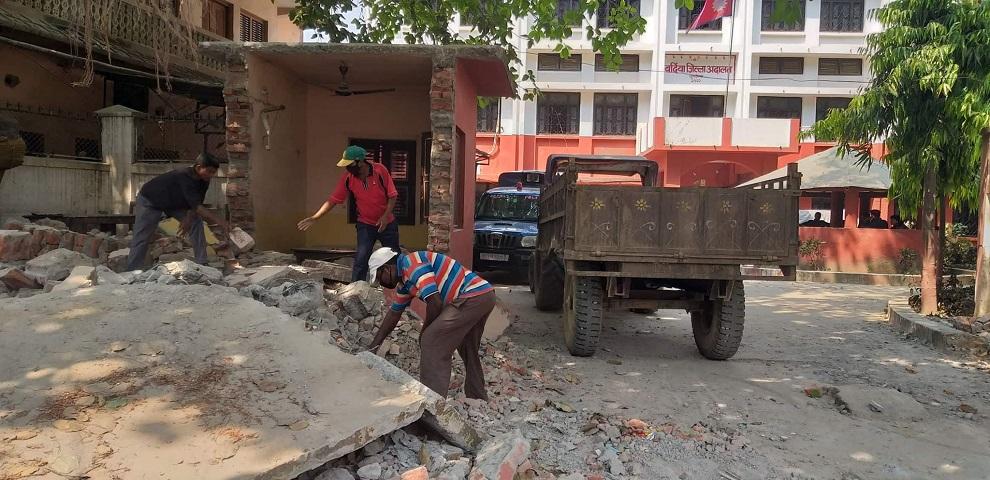 खजुरामा चार लेन सडक निर्माण शुरु