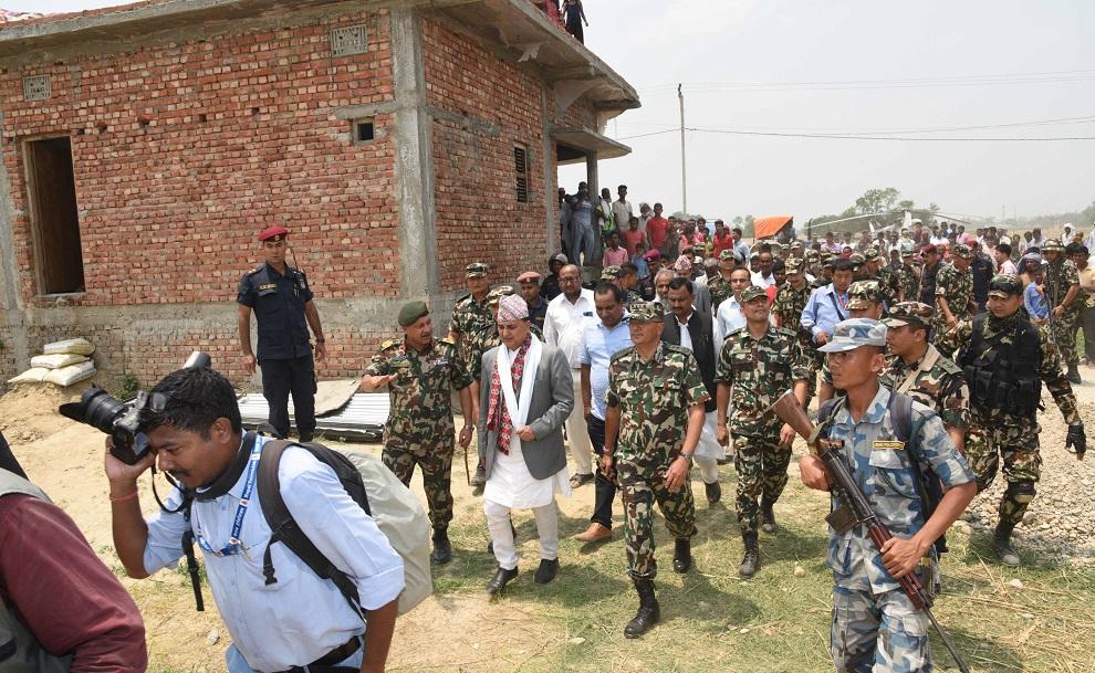 नेपाली सेनाले पाए एक हजार ४५३ घर बनाउने जिम्मा