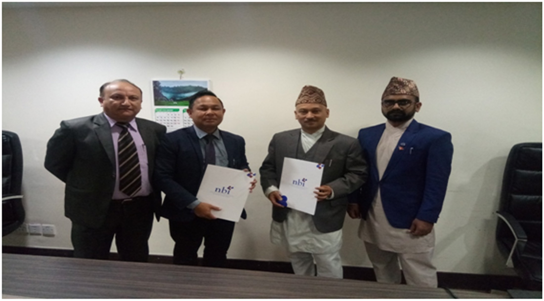 नेशनल बैंकिग ईन्स्टिच्यूट र सांग्रिला डेभलपमेन्ट बैंक बीच वित्तीय साक्षरता सम्बन्धी सम्झौता