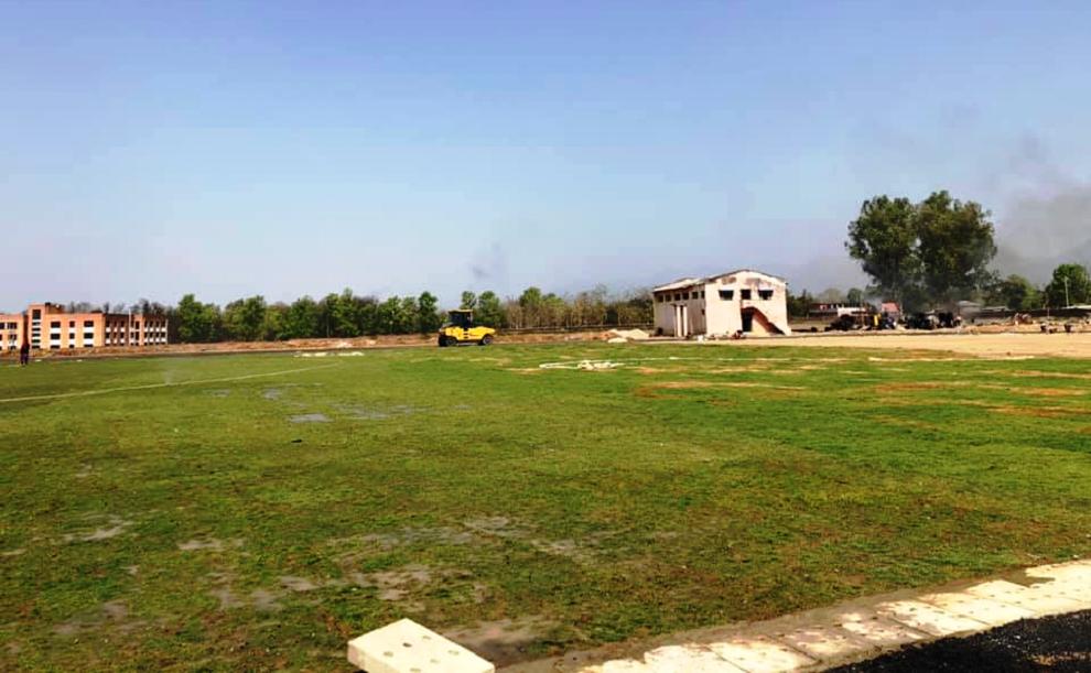 क्षेत्रीयस्तरको खेल मैदानको निर्माण शुरु
