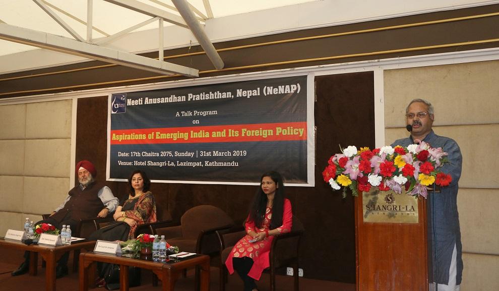 भारतको राष्ट्रिय स्वार्थ नेपाल प्रति समृद्धि विकास भएको छ: भारतीय अम्बेडकर