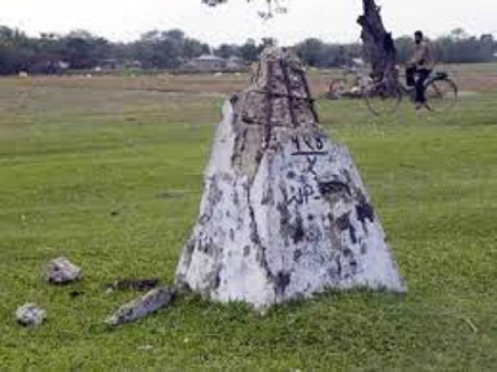 भारतीय पक्षले बनाएको स्तम्भ भत्काइयो