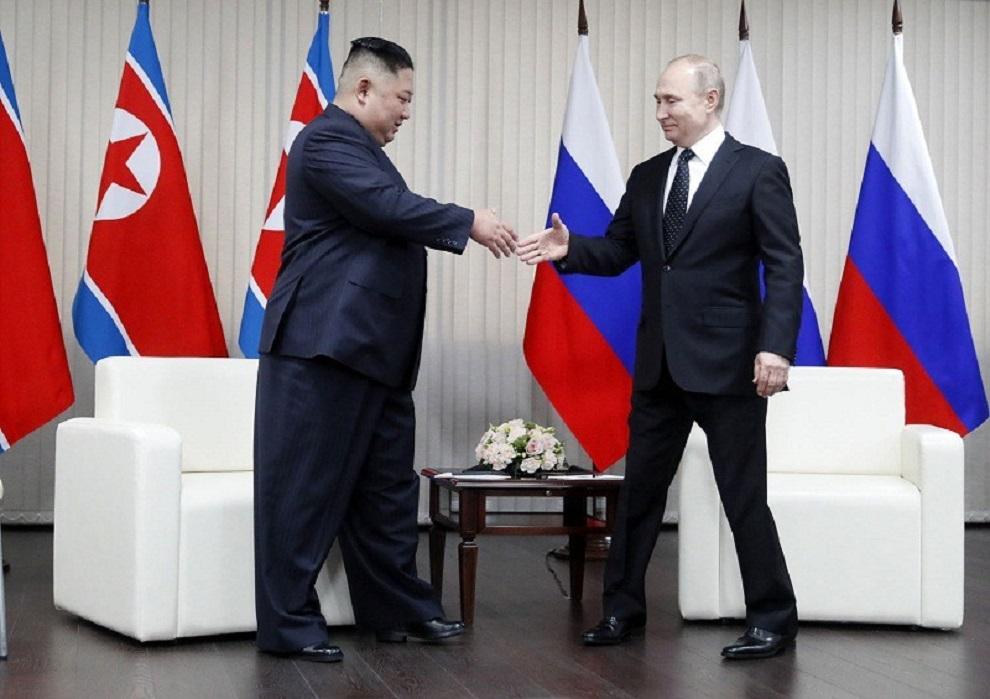 रुसी राष्ट्रपति पुटिन र उत्तर कोरियाली नेताबीच भेटवार्ता