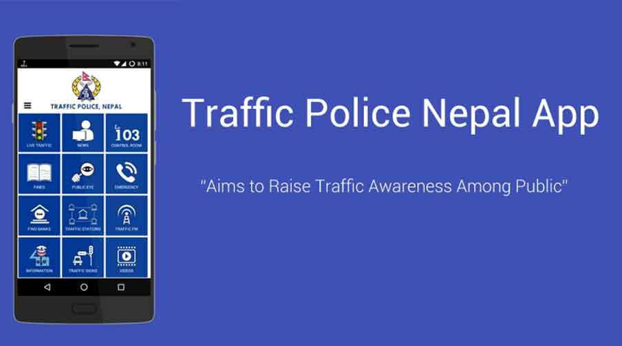 मोबाइल एप्स बाटै ट्राफिक बत्ती नियन्त्रण