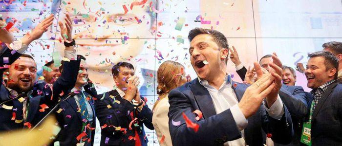 युक्रेनको राष्ट्रपतिमा हास्य कलाकार जेलेन्स्की विजयी