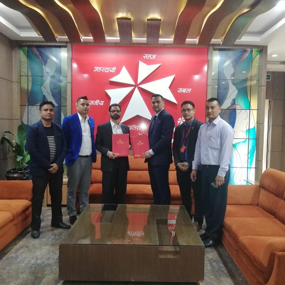 एनआई सी एशिया बैंक र स्पार्क हेल्थ होमबीच सम्झौता